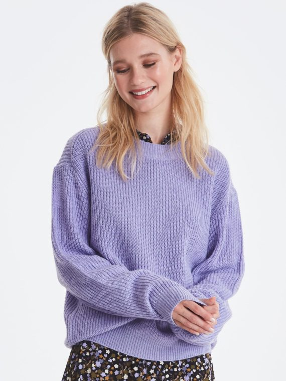 ICHI_violet-tulip-knitted-pullover